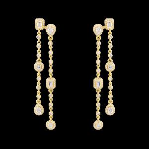 HAPPY Earrings with Diamonds