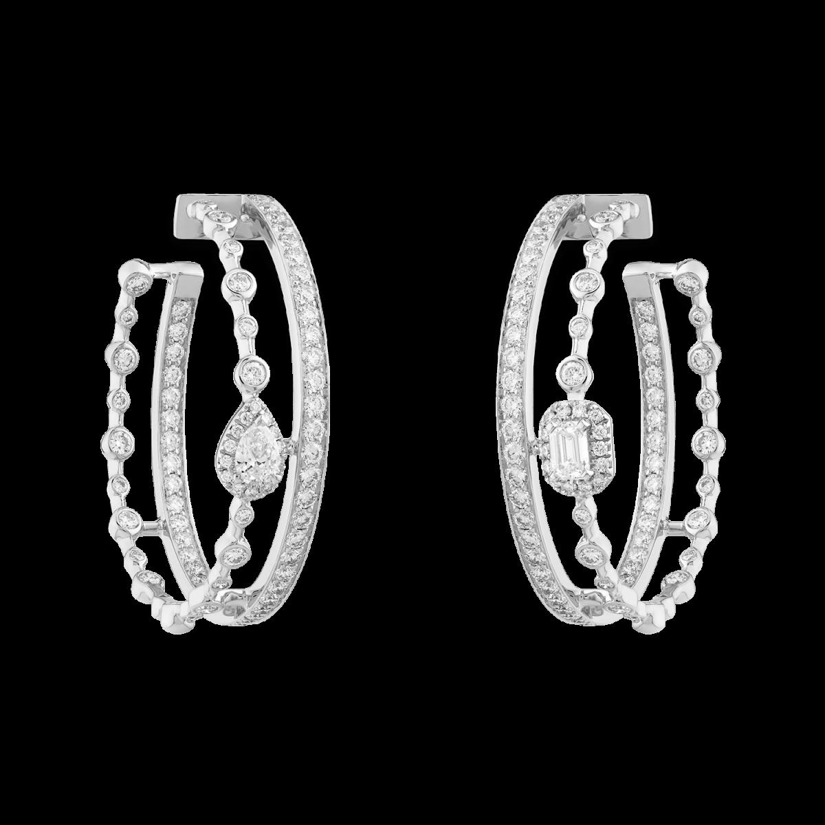 HAPPY Hoop Earrings with Diamonds