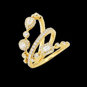 HAPPY Trio Ring with Diamonds