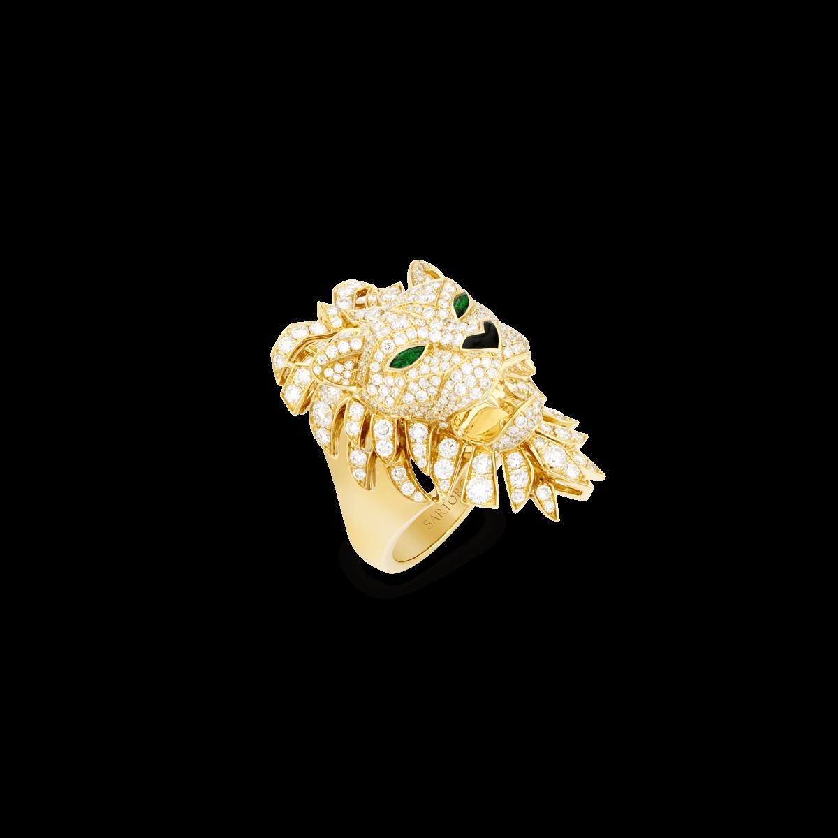Sartoro Lion Ring LION-R1YG