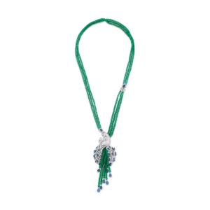 Sartoro PEACOCK Necklace PEAC-N1WGEMBS