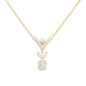 sera yellow gold pendant with diamonds