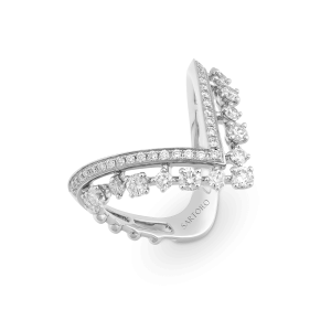 stella white gold ring with diamonds