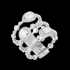 HAPPY Statement Ring with Diamonds