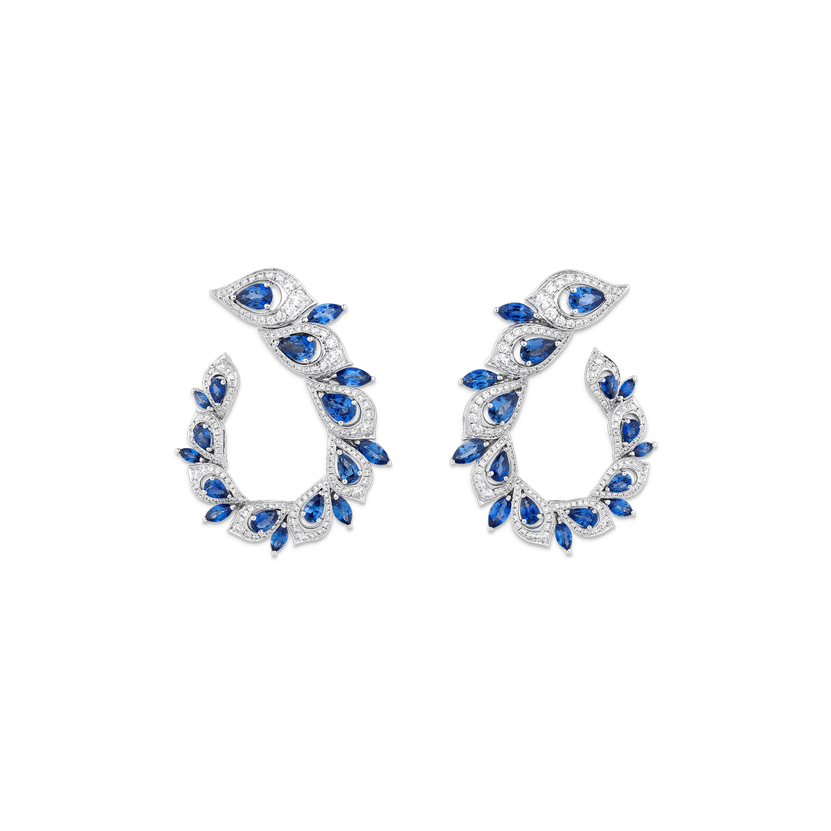 Sartoro PEACOCK Earrings PEAC-E1WGBS