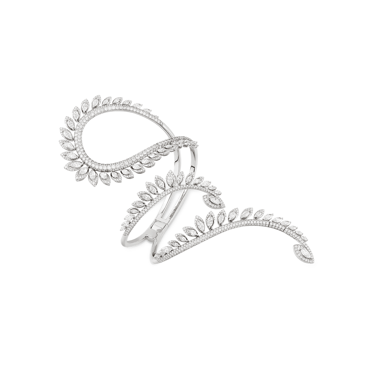 36f1e8a295d4a PLUME Asymmetric Bangle   SARTORO   Exquisite Diamond Jewels