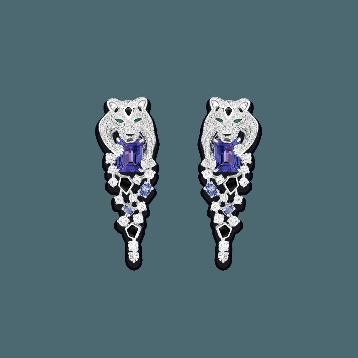 Sartoro FAUNA - SNOW LEOPARD Earrings SLEO-E4WGTZON