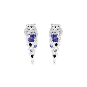 Sartoro FAUNA - SNOW LEOPARD Earrings SLEO-E4WGTZON