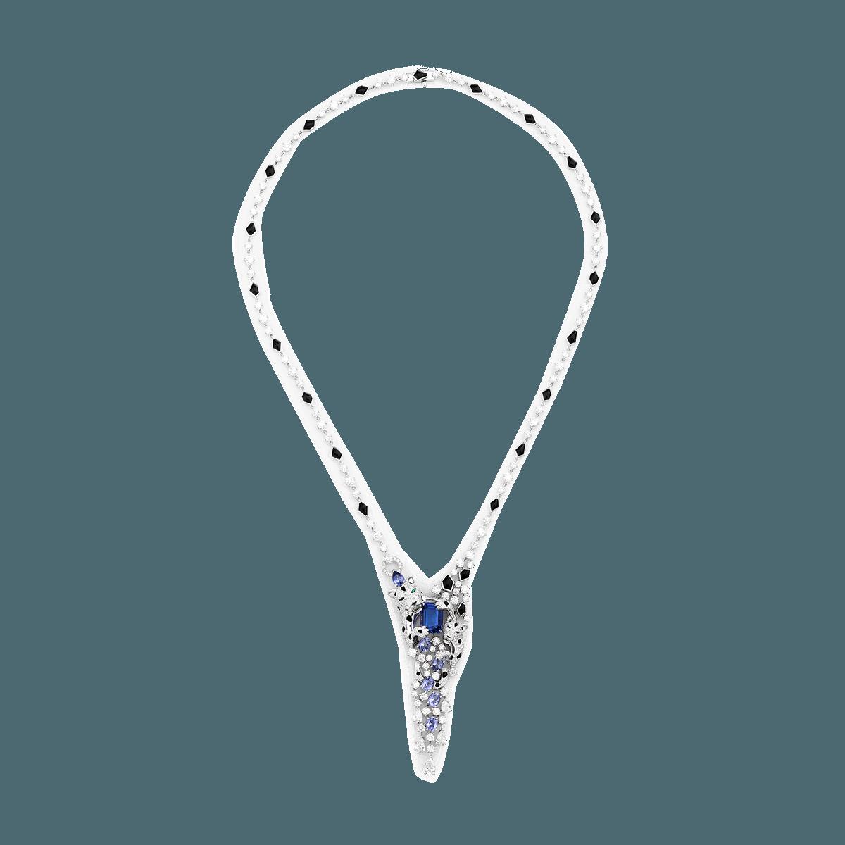 Sartoro FAUNA - SNOW LEOPARD Necklace SLEO-N4WGTZON