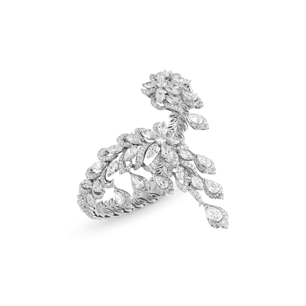 White gold and diamonds bangle