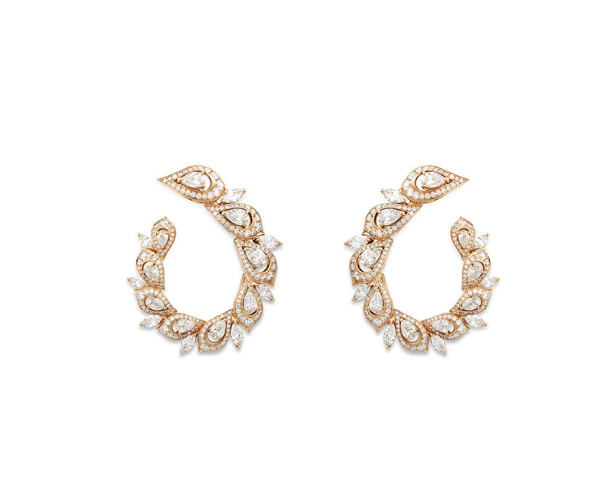 Sartoro-Jewelry-Peacock-Collection-Earring-Rosegold-1