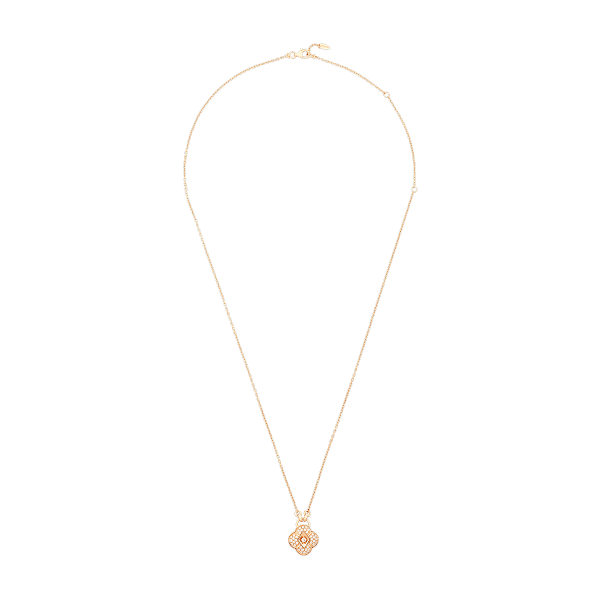 Zeste pendant in 18K rose gold featuring 39 round brilliant diamonds (0.61 carat)