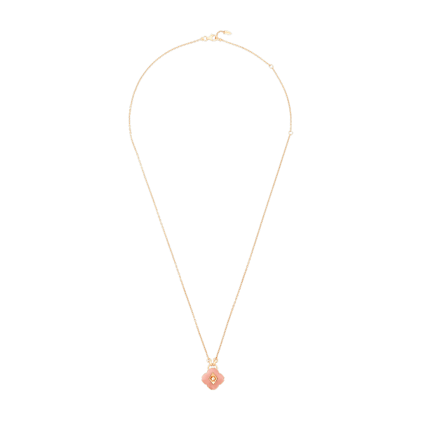 Rose Gold and Pink Opal Pendant