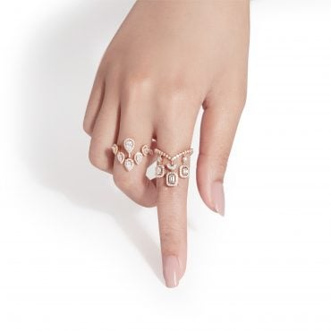 Sera collection white gold and diamonds rings