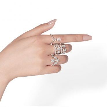 Sera, Ariana white gold and diamonds rings