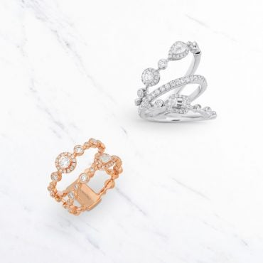 18k gold rings with diamonds