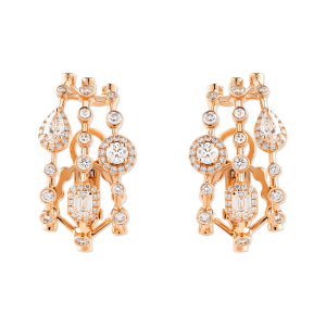 HAPPY Clip Earrings with Diamonds
