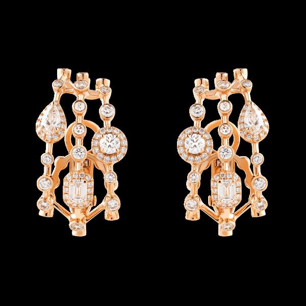 HAPPY Clip Earrings with Diamonds