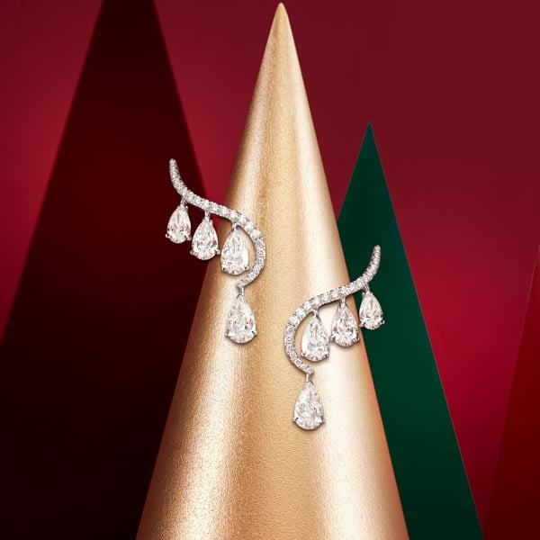 Sartoro white gold and diamonds earrings