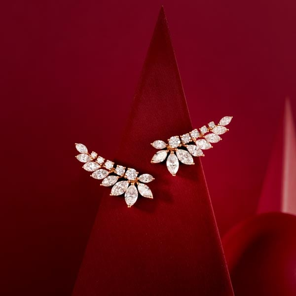 white gold with diamonds earrings