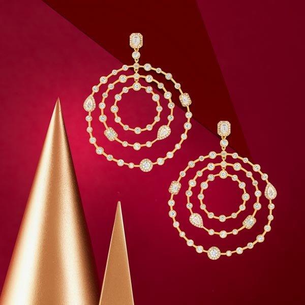 Sartoro Happy White gold earrings with Diamonds