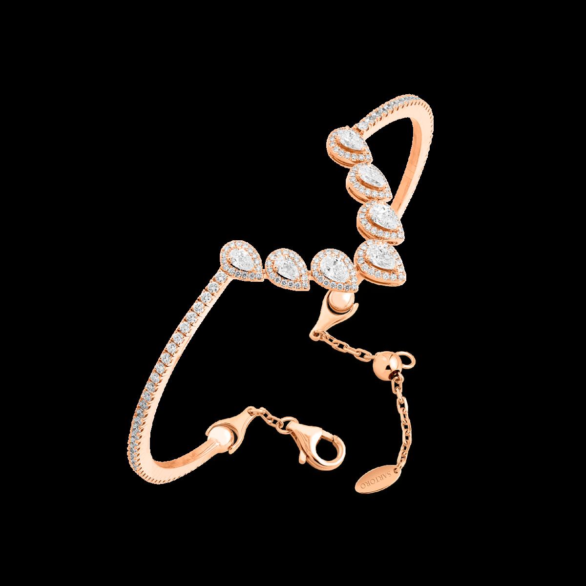 Ariana rose gold bangle with diamonds