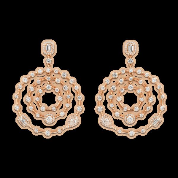 Happy Round Diamond Earrings