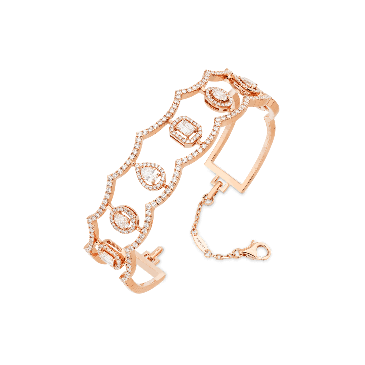 Ariana rose gold bangle with diamonds
