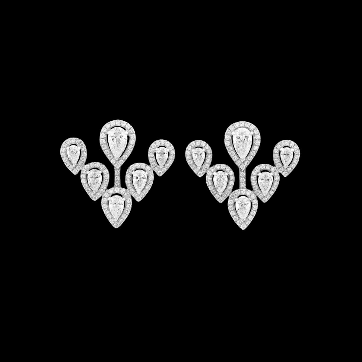 Ariana white gold earrings with diamonds