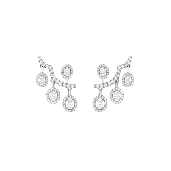 ariana white gold earrings with diamonds