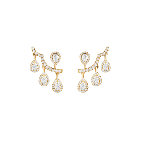 ariana yellow gold earrings with diamonds