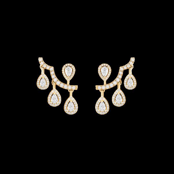 ariana yellow gold earrings with diamonds