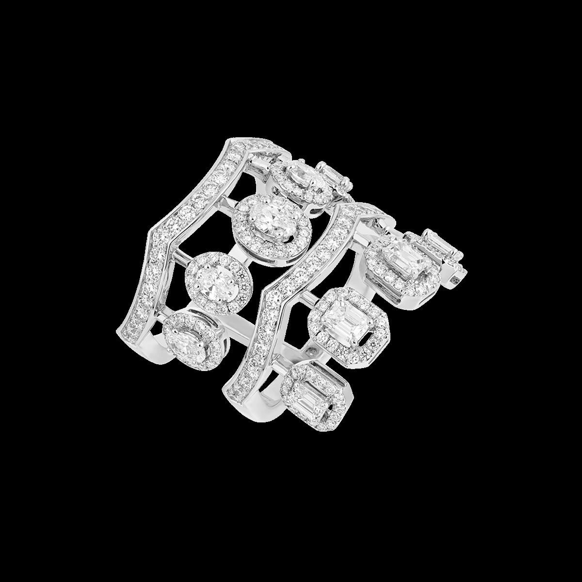 ariana white gold ring with diamonds