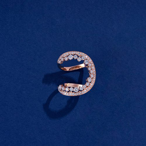 rose gold and diamonds provocations ring
